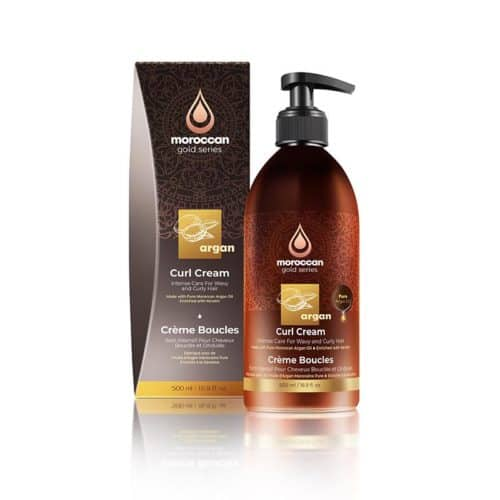 קרם לחות והזנה לשיער מתולתל 500 מל - moroccan gold series