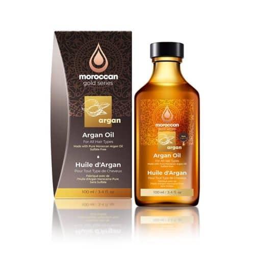 שמן טיפולי להזנה ולברק השיער 100 מל - moroccan gold series