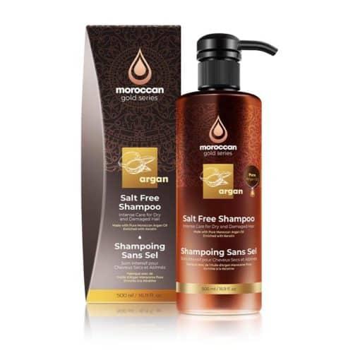 שמפו ללא מלחים 500 מל - moroccan gold series