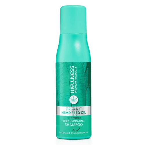 שמפו קנאביס מעניק לחות לשיער יבש צבוע ופגום 500 מל - וולנס